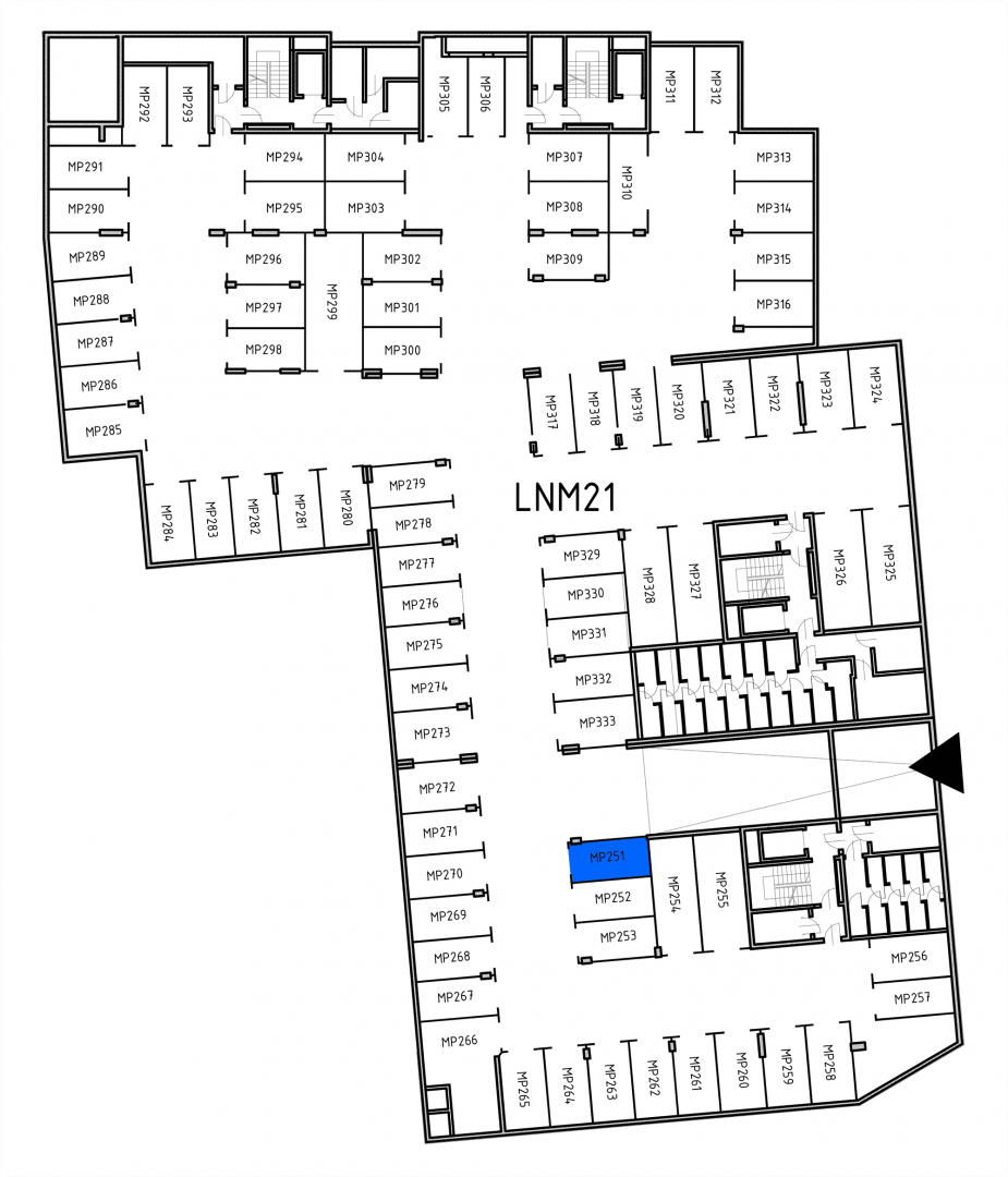 Miejsca parkingowe 32H32J/x251 rzut 1