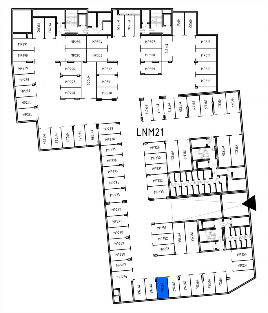 Miejsca parkingowe 32H32J/x263 rzut 1