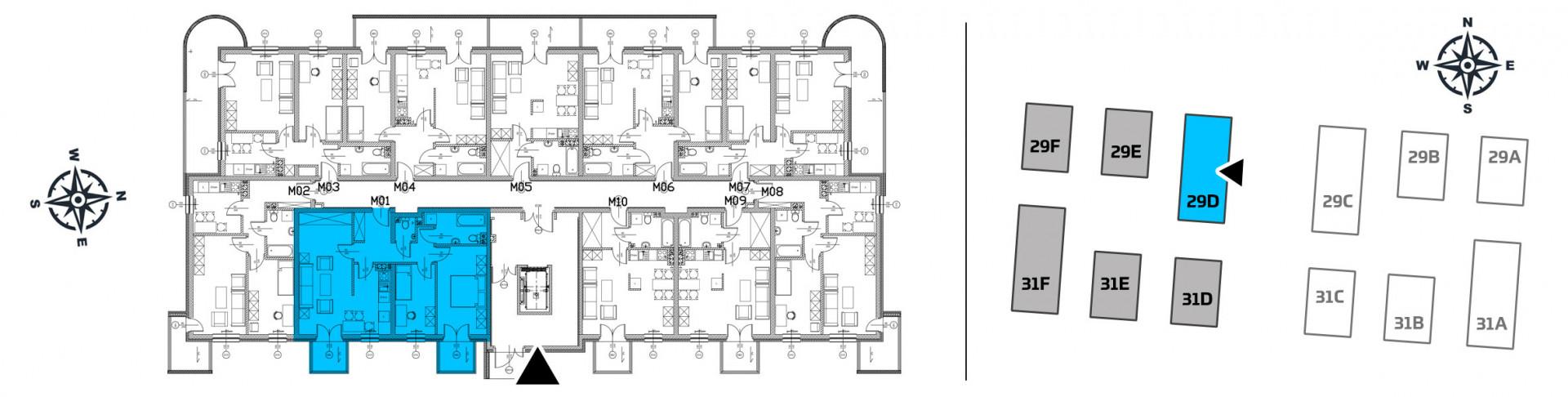 Mieszkanie trzypokojowe 29D/1 rzut 2