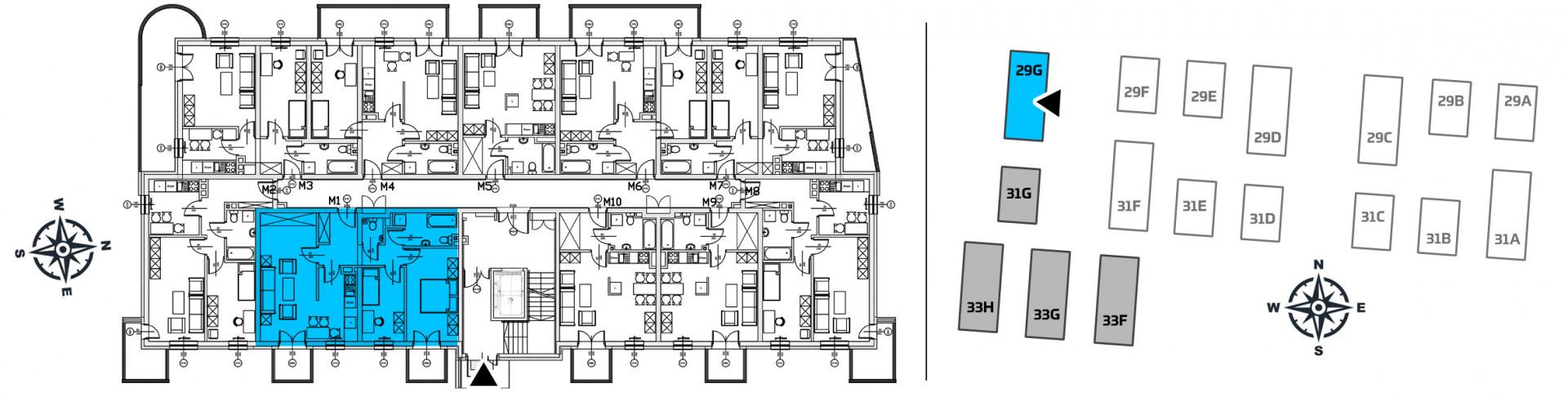 Mieszkanie trzypokojowe 29G/1 rzut 2