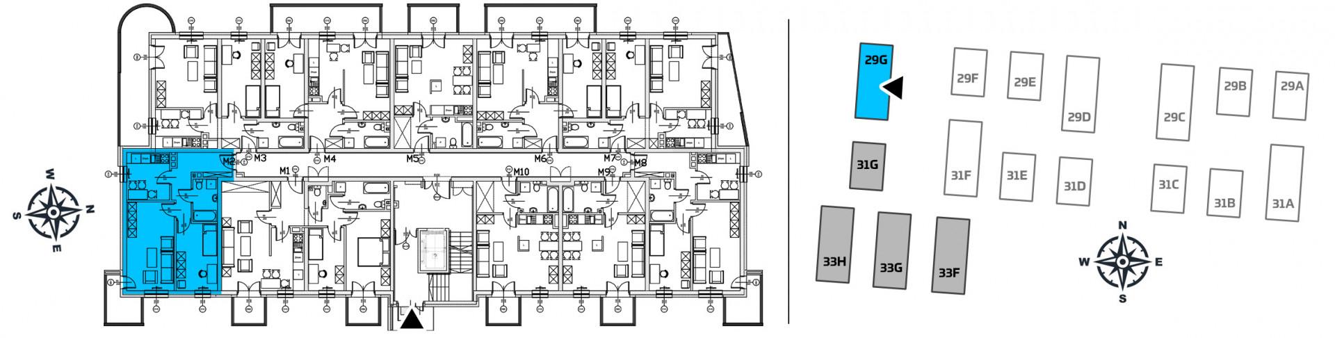 Mieszkanie dwupokojowe 29G/2 rzut 2
