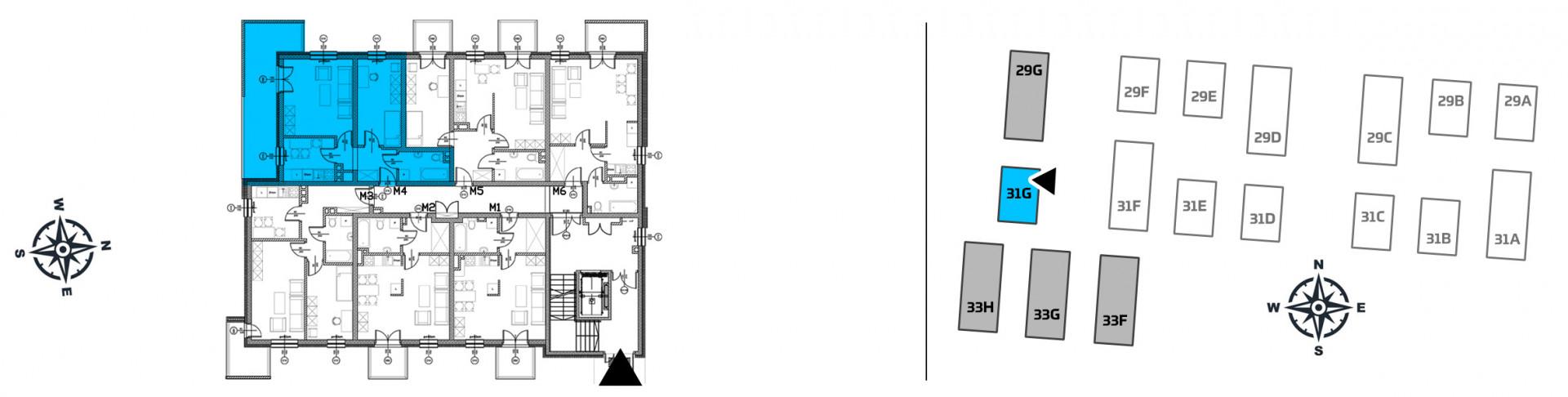 Mieszkanie dwupokojowe 31G/4 rzut 2