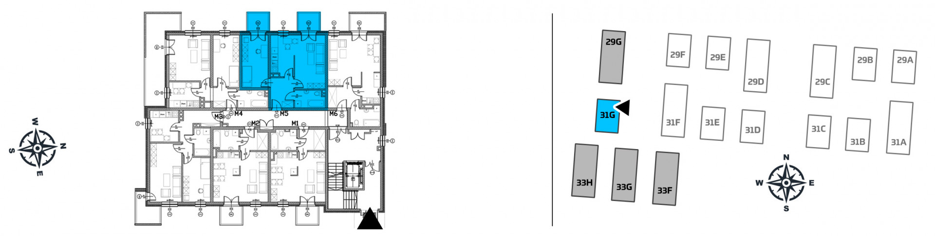 Mieszkanie dwupokojowe 31G/5 rzut 2