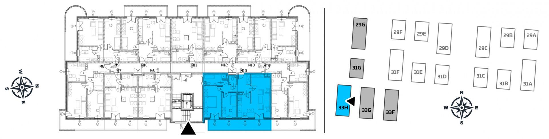 Mieszkanie trzypokojowe 33H/15 rzut 2