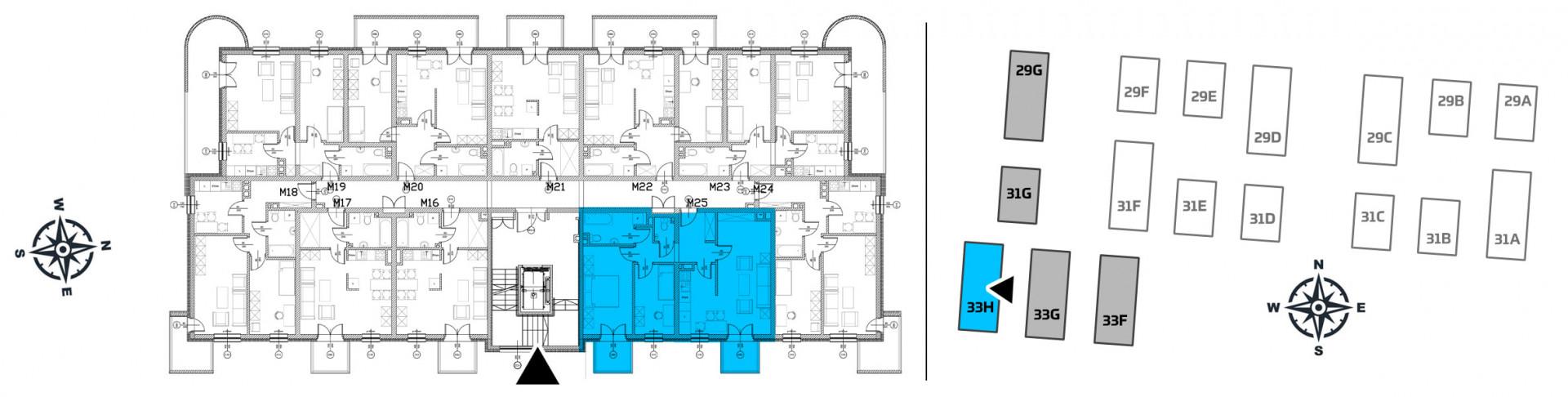Mieszkanie trzypokojowe 33H/25 rzut 2