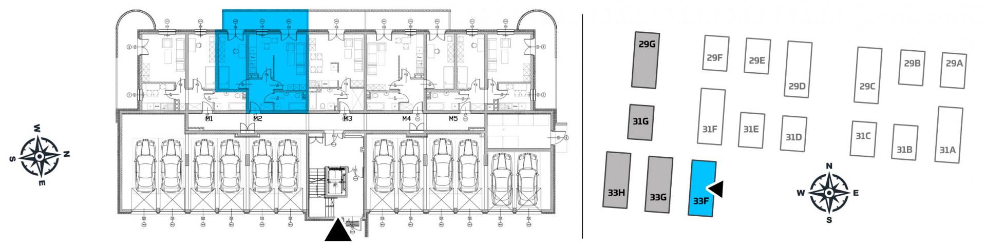 Mieszkanie dwupokojowe 33F/2 rzut 2