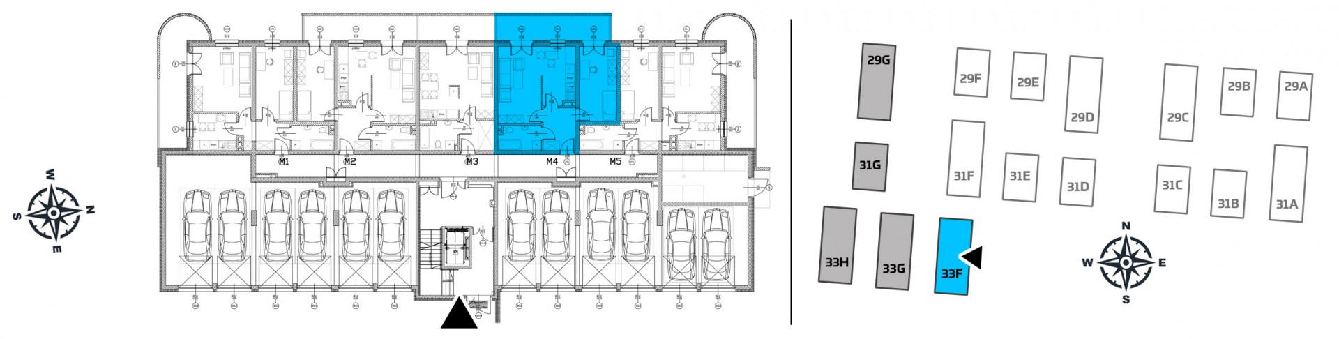 Mieszkanie dwupokojowe 33F/4 rzut 2