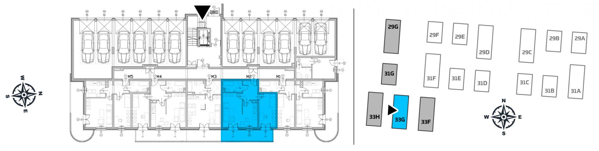 Mieszkanie dwupokojowe 33G/2 rzut 2