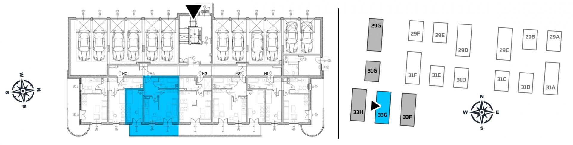 Mieszkanie dwupokojowe 33G/4 rzut 2