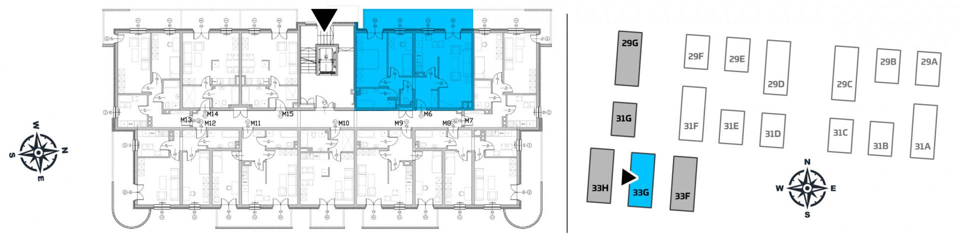 Mieszkanie trzypokojowe 33G/6 rzut 2