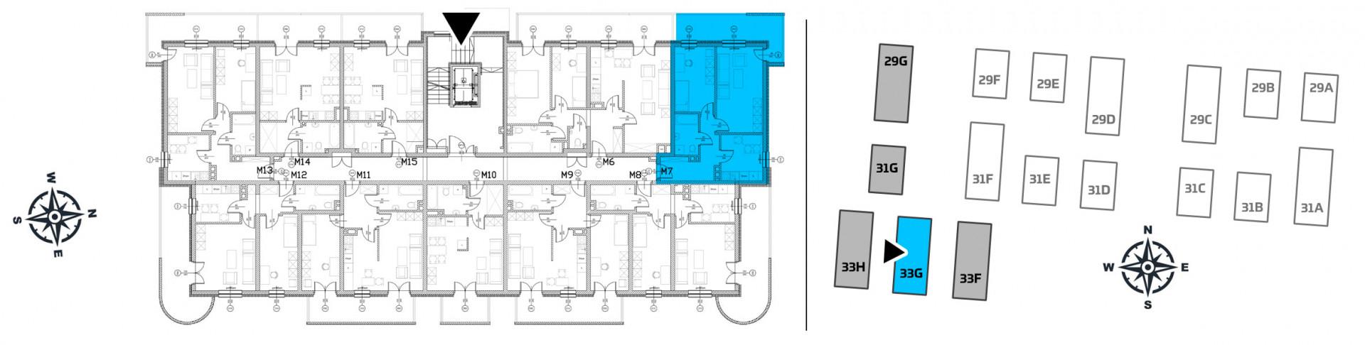 Mieszkanie dwupokojowe 33G/7 rzut 2