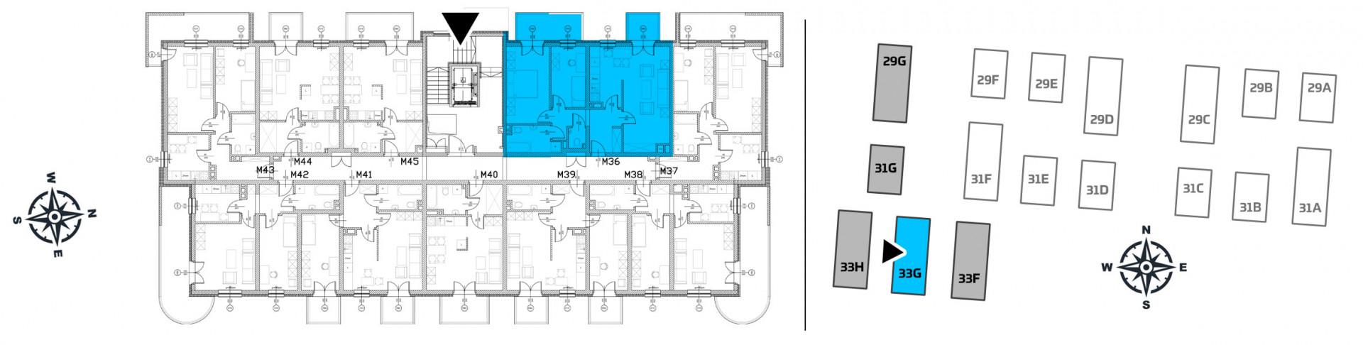 Mieszkanie trzypokojowe 33G/36 rzut 2