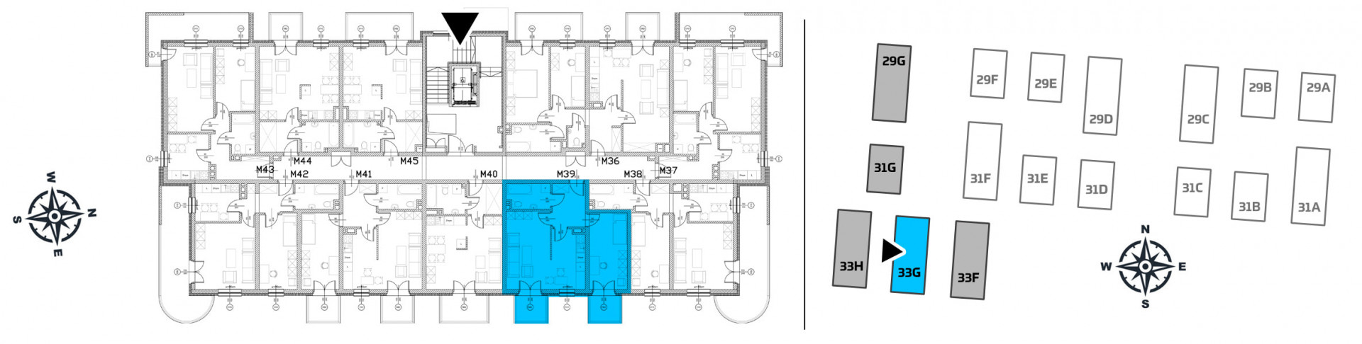 Mieszkanie dwupokojowe 33G/39 rzut 2