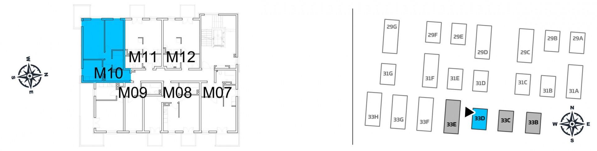 Mieszkanie dwupokojowe 33D/10 rzut 2